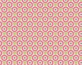 WINTER SALE - So Happy Together - 1 yard - FLANNEL - Flower in Pink - Sku F3232 - by Deena Rutter for Riley Blake Designs