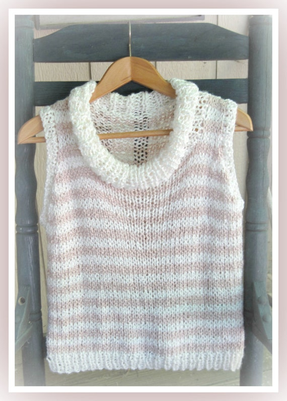 Xl Knitting Patterns : All seasons sleeveless pullover with mock cowl neck