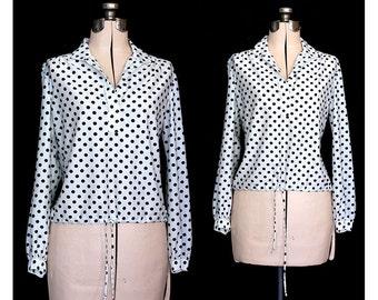 Vintage 70s Dot Dot Polka Dot Pullover Shirt