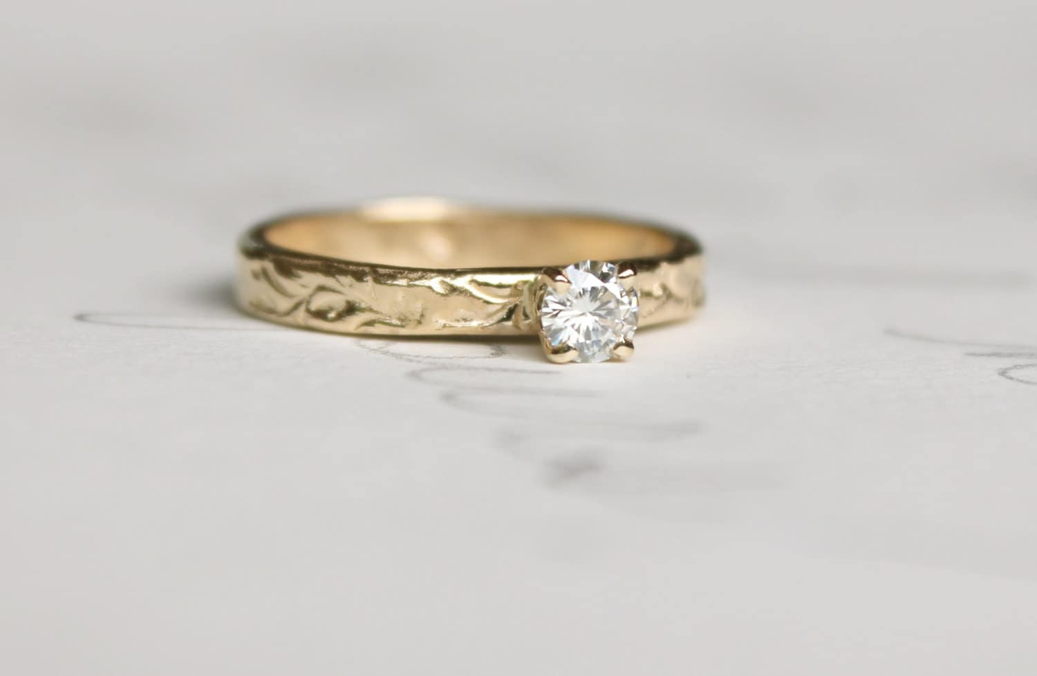 moissanite engagement ring unique alternative