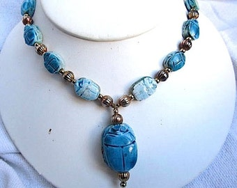 Vintage Egyptian Turquoise Necklace
