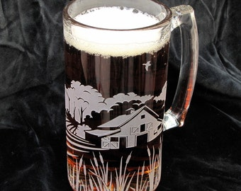 Barn Wedding, Farm Wedding Beer Steins, Best Man Gift for Groomsman, Rustic Wedding