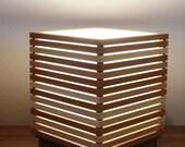 Reclaimed cedar Andon (lamp)