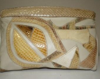 Varon beige clutch from Stylefinders