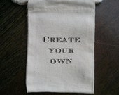 Create Your Own Muslin Party Favor Bag or Gift Bag