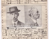 Mugshot Notorious Man Long Rap Sheet ca 1880 1890 1900 1910 Suspicious American Large Criminal Record Joliet Prison & House of Correction