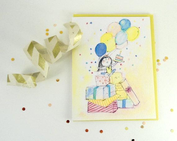Confetti Birthday Girl Greeting Card