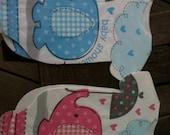 "Pack of 30 Baby shower ""clothing"" napkins or banner decoration.  Choose Blue or pink or both. Elephants."