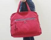 New Year SALE - 20% OFF Wisey in Red/ Messenger / Handheld / Document bag / Laptop / working Bag / Purse / Handbag / Women/ Gift ideas