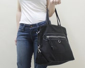 Back To School SALE - 20% OFF Wisey in Black / Messenger / Handheld / Document bag / Laptop / working Bag / Women / For her / Gift ideas