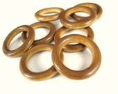 Wood rondelle beads - 40mm -  BurlyWood brown ring link disks (PB231B-566)