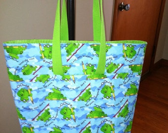 Toad-ally Cool Teacher/Reading Tote