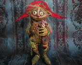 OOAK Goblin Fairy Elf Creature Gail Lackey Niada