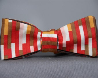 Funk Bits in Brown and Red  Bow Tie