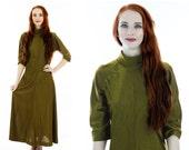 60s Gold Maxi Dress 1960s Mod Vintage Metallic Starburst Pleating Sixties Hostess Party M Medium Large L