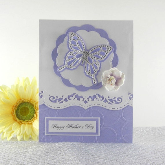 Mothers day card elegant butterfly card mothers day gift for Classy mothers day cards
