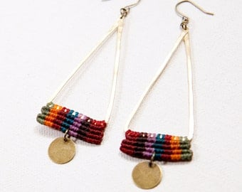 Temple Earrings (multicolor, brass)