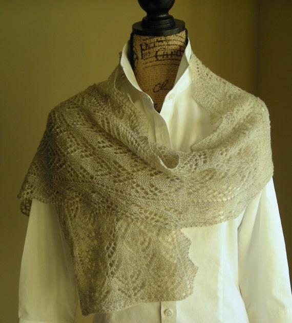 Knitting Lace Scarf Pattern PDF Smoky by lavenderhillknits on Etsy