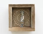 hand embroidery diorama- self-portrait textile art fiber art