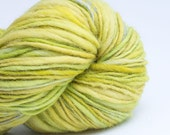 Lime, Big Skein, HandSpun and Hand dyed Wool, Single, Bulky, 175 yards