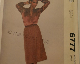 Front Wrap Skirt Size 16 McCalls 6777