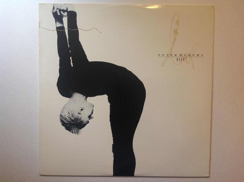 1989 peter murphy of bauhaus deep vinyl lp record album. Black Bedroom Furniture Sets. Home Design Ideas