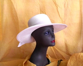 80s Sun Hat Wide Brim Le Charme Creations Wedding Lawn Party