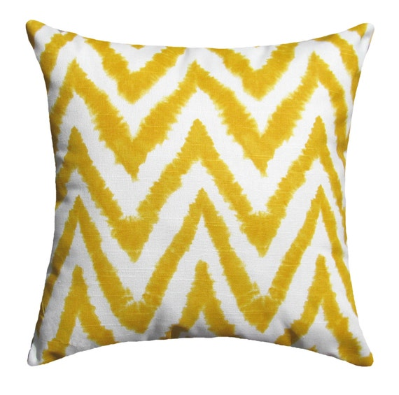 Throw Pillows In Clearance : CLEARANCE Yellow Modern Throw Pillow Diva Corn Yellow