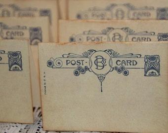 Wedding Place Cards, Quantity 100,  Escort Cards,  Vintage Post Cards Placecards, Tent Table Place Cards