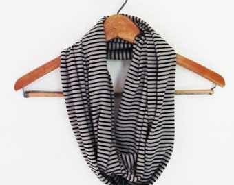 Bamboo Stripe Infinity Scarf - GREAT GIFT - Organic Accessory