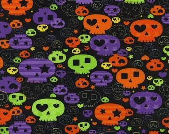 Halloween Skulls in Black Timeless Treasures - Last Yard