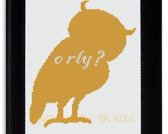 O RLY Owl Cross Stitch Pattern