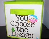 Choose Any Kid's Bedroom Baby Nursery Fabric Bin Organizer for Toys or Clothing