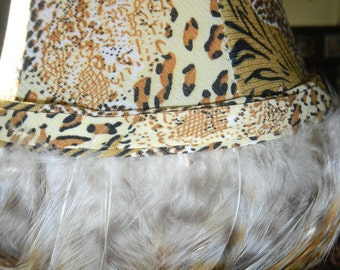 Animal Print With Feather Small Lamp Shades