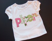 Personalized appliqued t-shirt for girl or boy - you choose the color by Tried and True Designs on Etsy - TriedAndTrueDesigns