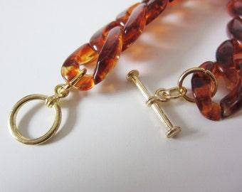 Tortoiseshell Acrylic Chain Bracelet