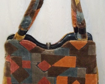 Vintage Carpet Purse Handbag Bag Clutch Bohemian BOHO