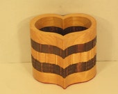 Pencil Holder Large Heart Shaped Handmade