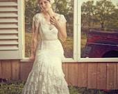 Analise - Ruffled Lace Wedding Dress