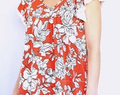 Floral Femme Top 2013 Trends in Regular and Plus Size Immediate Delivery