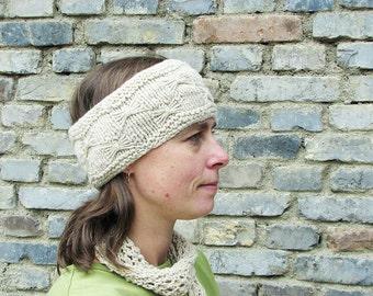 Butterfly Stitch Headband/Cowl; Cream - 2210