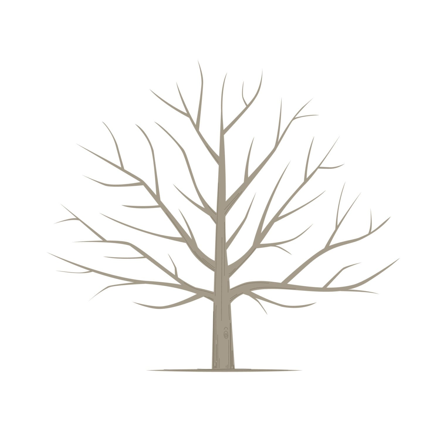 diy fingerprint tree poster instant download square