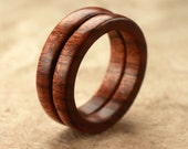 Stacking Mopani Wood Rings