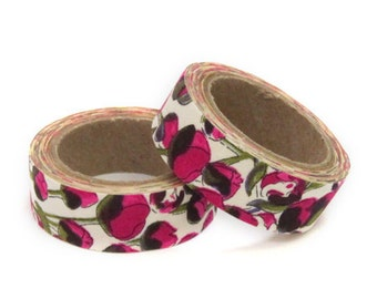 Liberty of London Fabric Masking Tape - Eliza's in Red - single roll