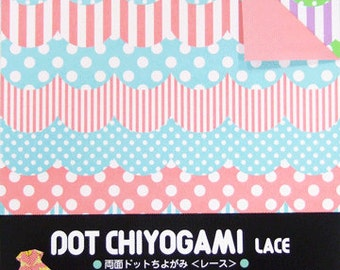 Japanese Double-Sided Origami Paper - Lace - 15cm (6 inches)