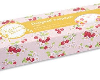 Mark's Wax Paper - Cherry & Flowers - Regular