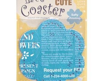 Season Lace Paper Doily - Blue Monogram - pack 20