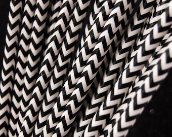 Black Chevron Zig Zag Paper Straws and PDF Printable Party Flags