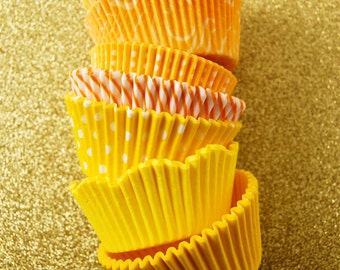 Assorted Yellow Cupcake Liners (70)