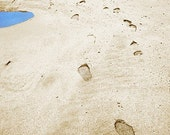 Beach Footprints Landscape Photograph - 10x8 - sea, seaside, sand, vacation, holiday, seashore